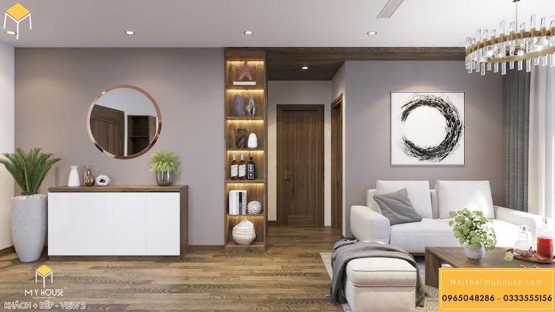 Thiết kế nội thất chung cư HDI 68A Võ Chí Công 3