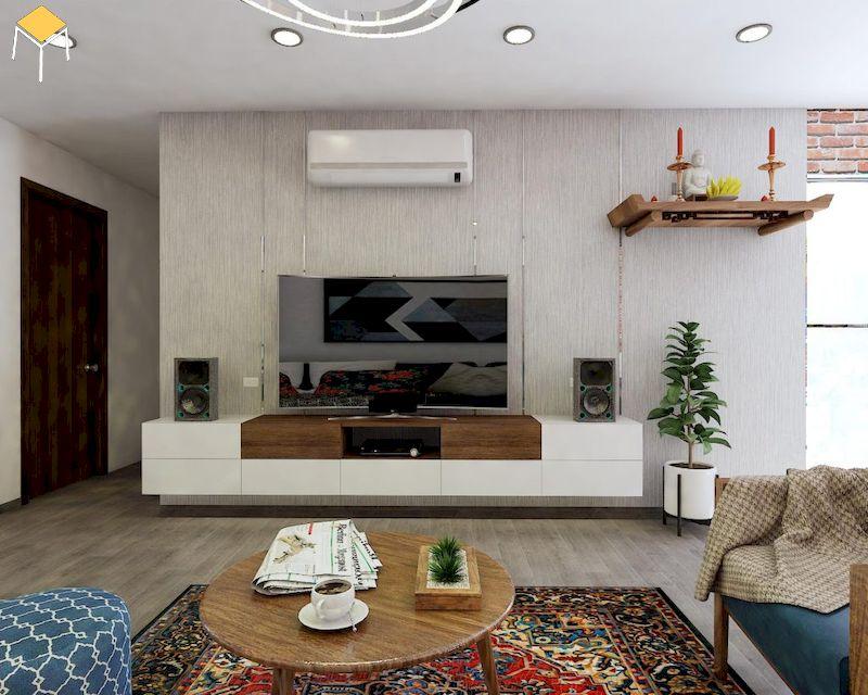 Trang trí phòng khách chung cư tối ưu không gian sống, tối ưu công năng