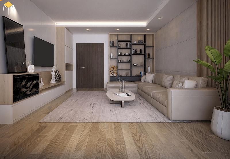 Mẫu trang trí phòng khách chung cư đẹp