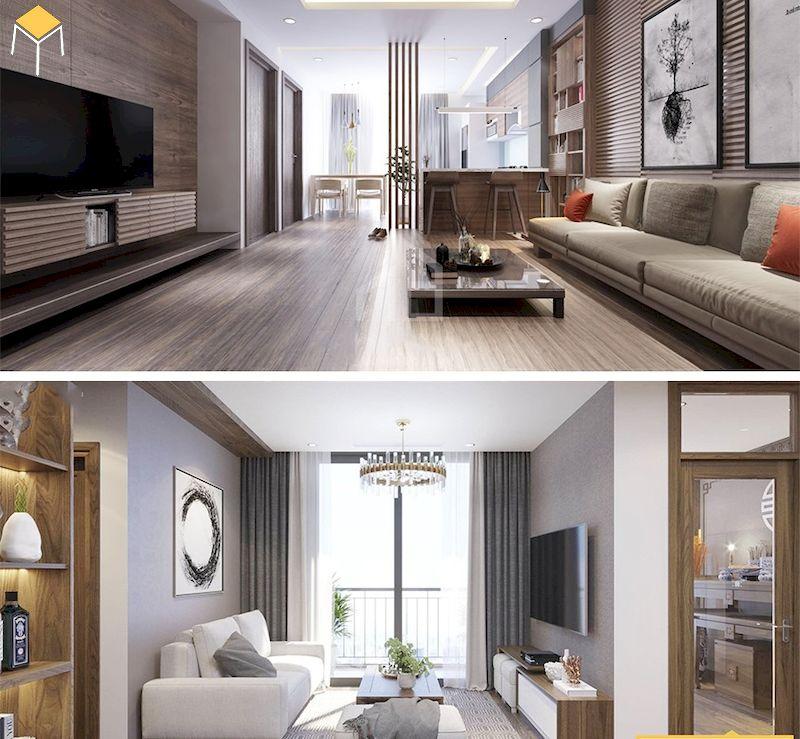 Trang trí chung cư phong cách hiện đại