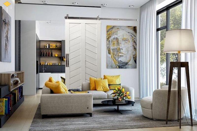 ý tưởng thiết kế nội thất phòng khách nhà chung cư đẹp độc lạ