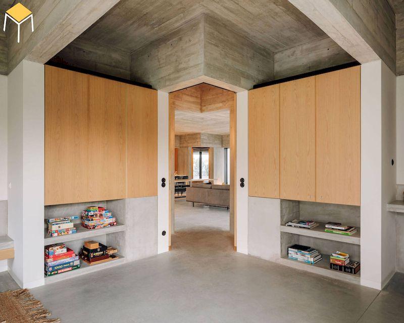 Tủ âm tường thiết kế đơn giản tiết kiệm diện tích