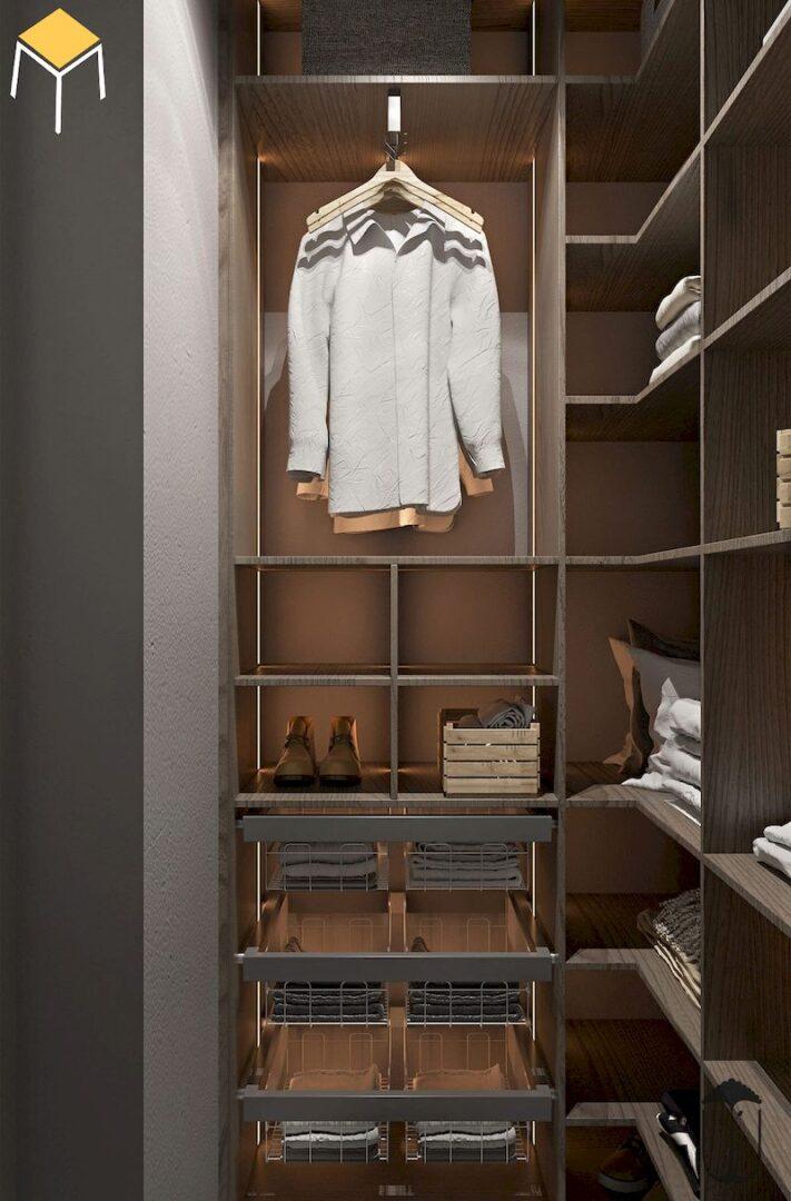 Tủ quần áo âm tường đẹp, tiện nghi sử dụng