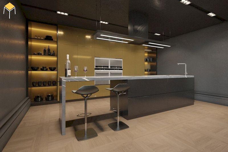 Mẫu tủ rượu quầy bar mini cho không gian nhỏ