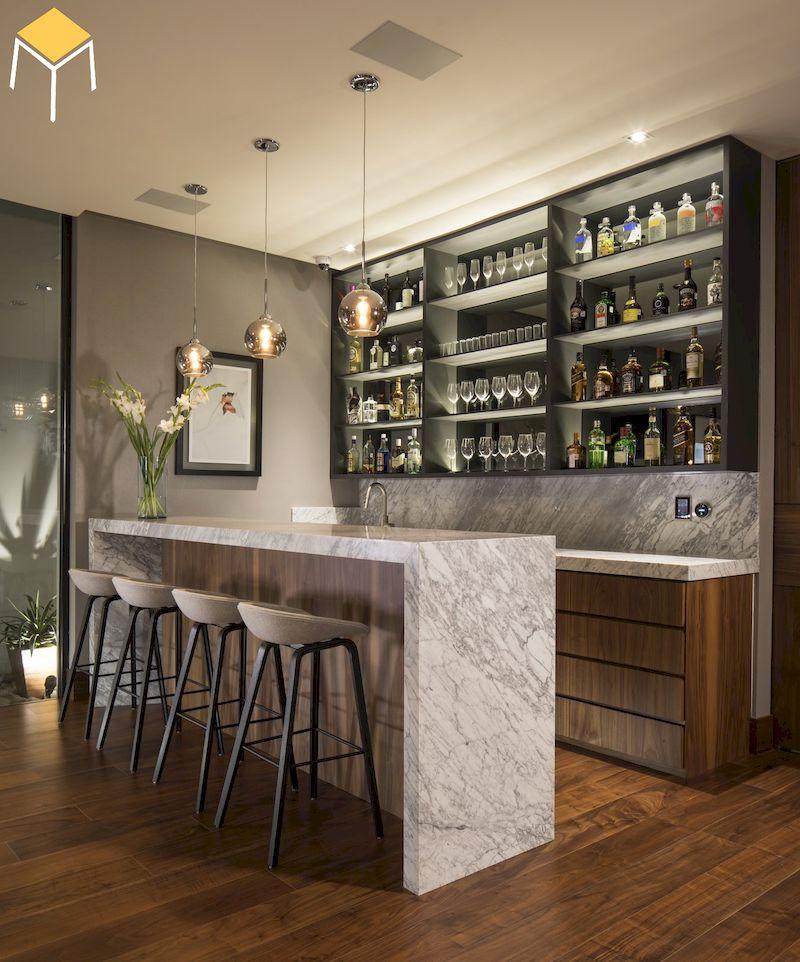 Quầy bar hiện đại, sang trọng cho phòng bếp gia đình