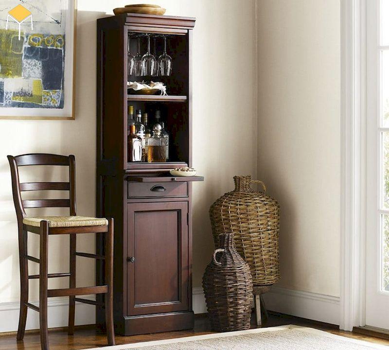 Tủ rượu góc đẹp cho nhà nhỏ