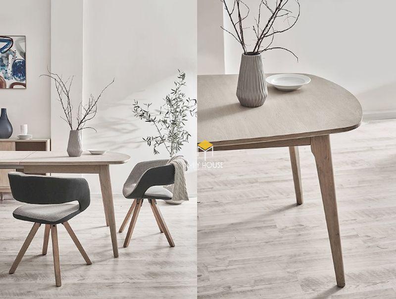 Mẫu bàn ăn kiêm bàn tiếp khách gỗ tự nhiên