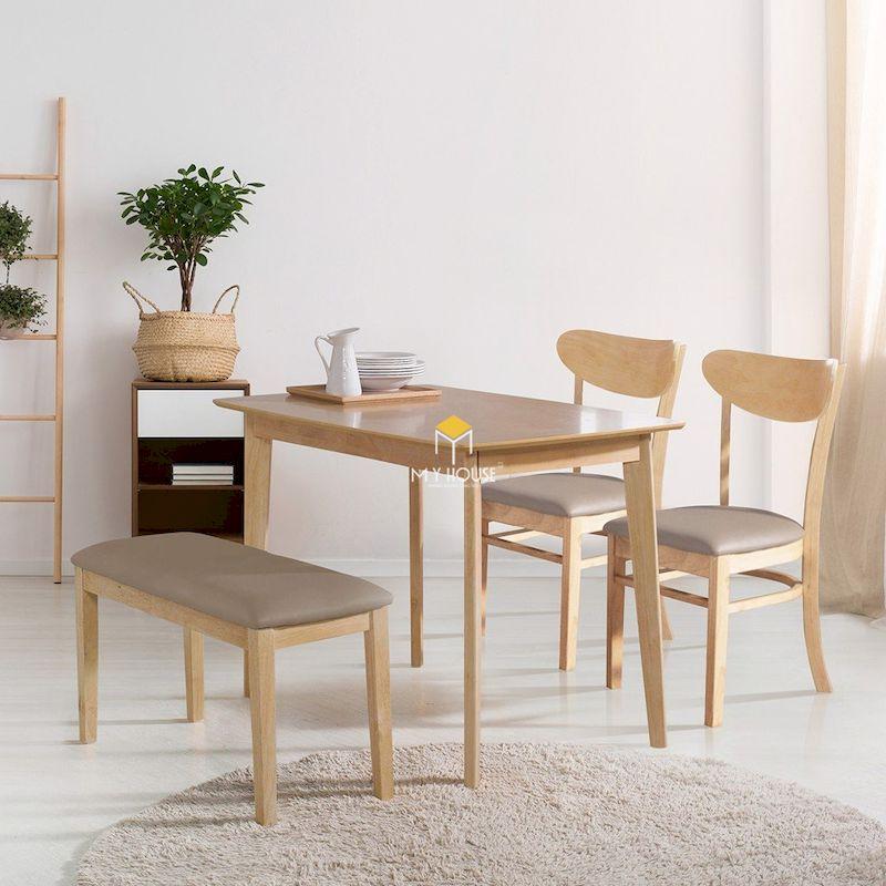 Mẫu bàn ăn kiêm bàn tiếp khách gỗ công nghiệp