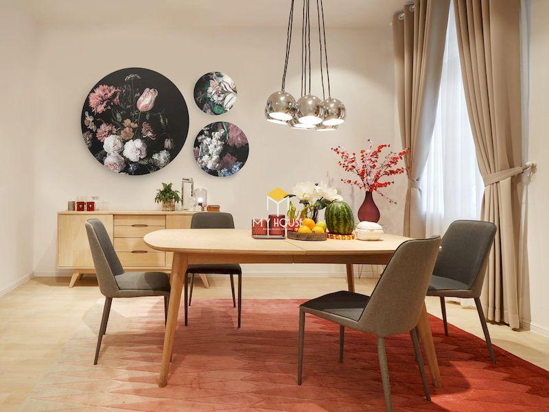 Đa dạng thiết kế bàn ăn kết hợp bàn trà