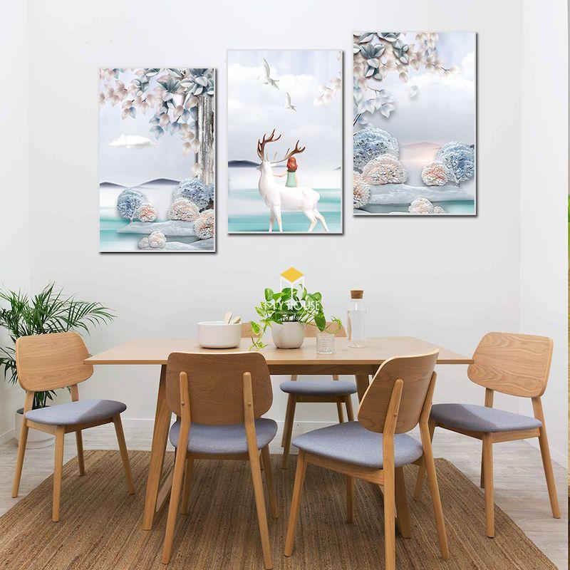 Bộ bàn ghế ăn gỗ sồi 6 ghế