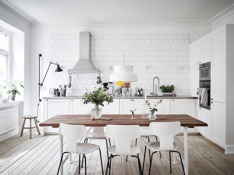Nội thất phòng bếp phong cách Bắc Âu
