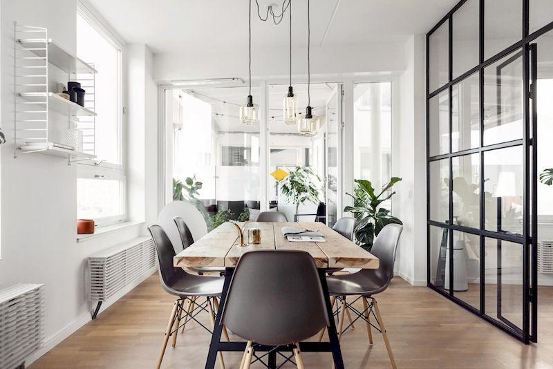 Mẫu bàn ăn phong cách Bắc Âu gỗ tự nhiên đơn giản, giá rẻ