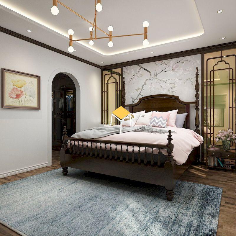 giường ngủ phong cạch indochine mang bản sắc Việt Nam