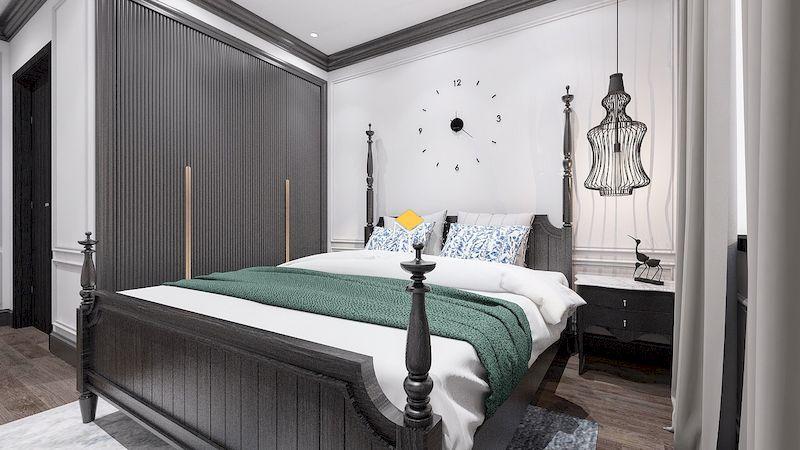 Nội thất phòng ngủ indochine màu sắc châu ÂU