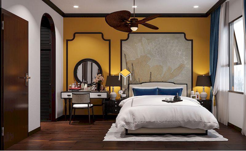Giường ngủ phong cách Indochine 3