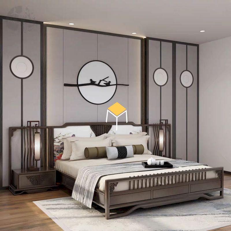 Phòng ngủ indochine mang nhiều nét văn hóa Trung Quốc