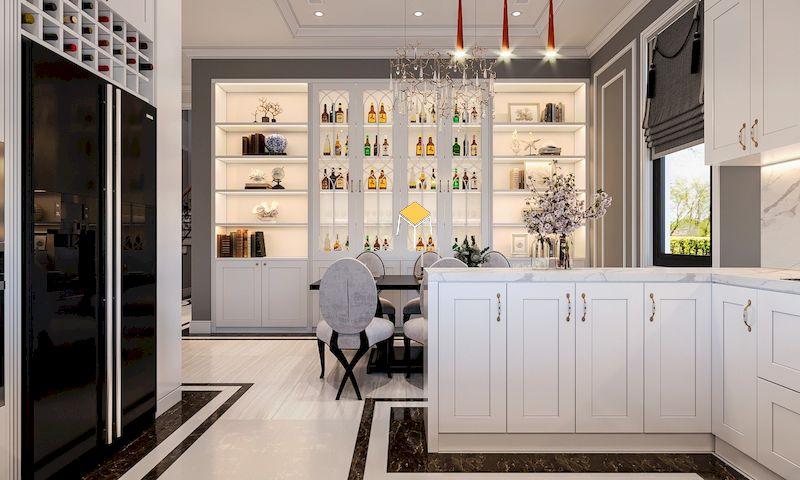 Nội thất Phòng bếp tân cổ điển sang trọng