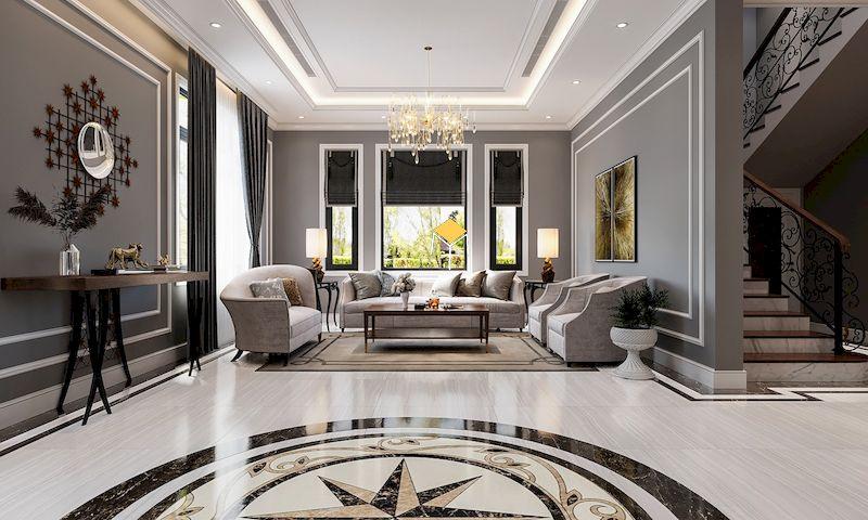 Công trình nội thất tân cổ điển - phòng khách