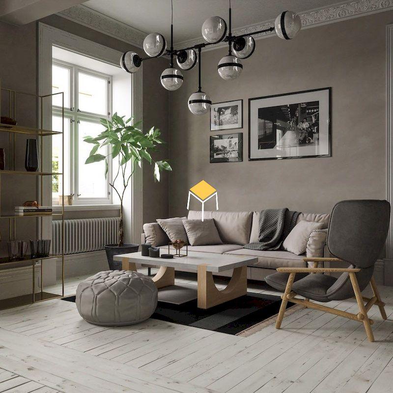 Thiết kế phòng khách Bắc ÂU tinh tế, tối giản và hiện đại
