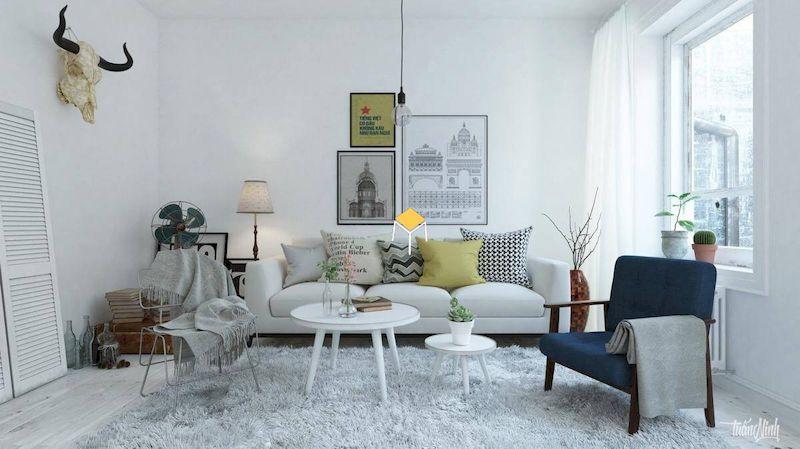 Sofa văng đơn giản cho phòng khách chung cư