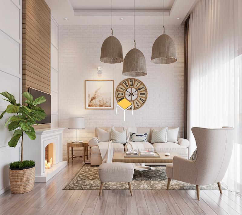 Sofa phong cách Bắc Âu màu sắc đơn giản