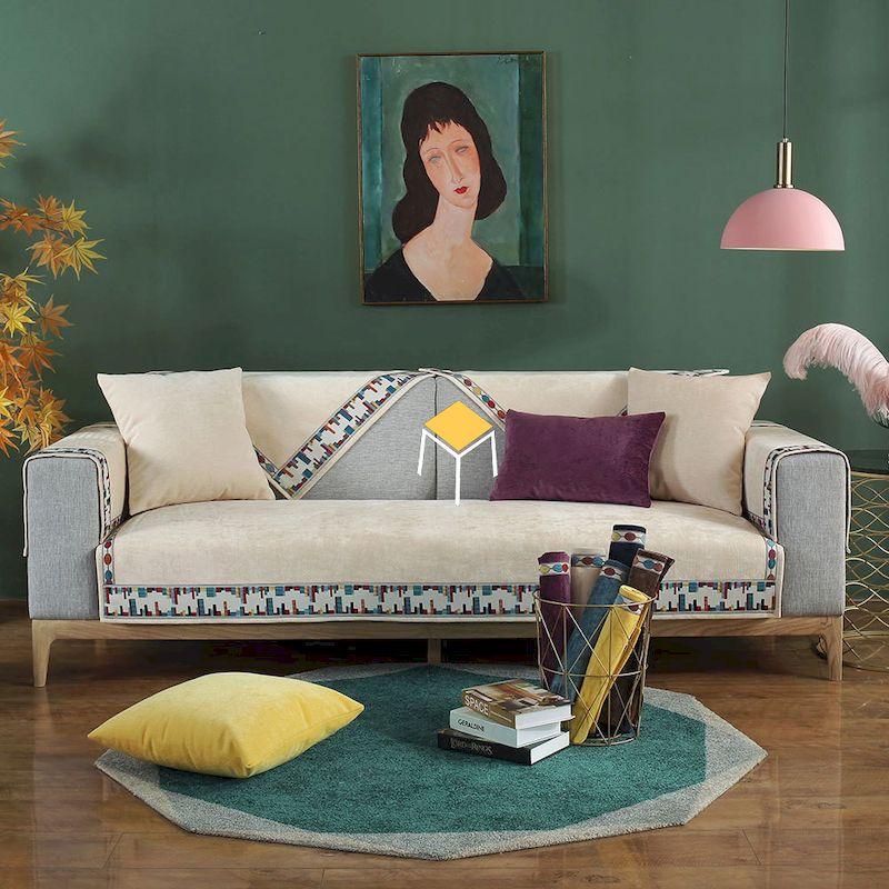 màu sắc hài hòa của sofa và phụ kiện