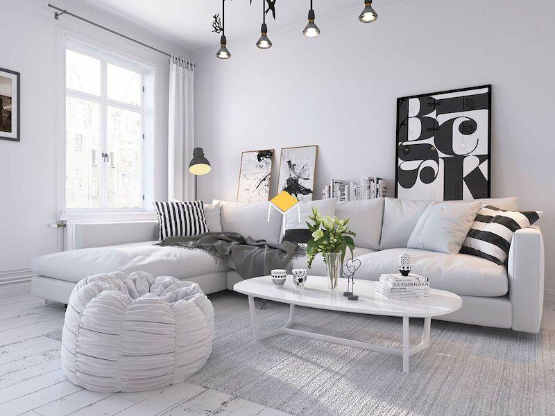 Sofa góc chữ L phong cách Bắc Âu