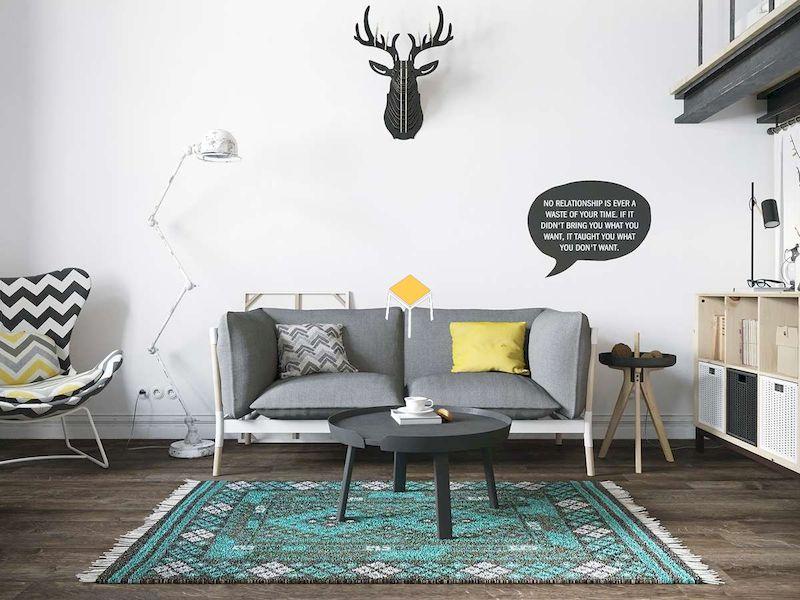 Thiết kế phòng khách chung cư phong cách Scandinavian