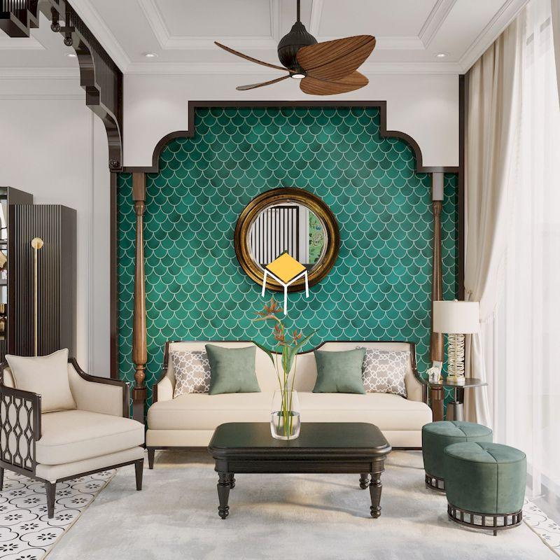 Sofa phòng khách nội thất phong cách Đông Dương