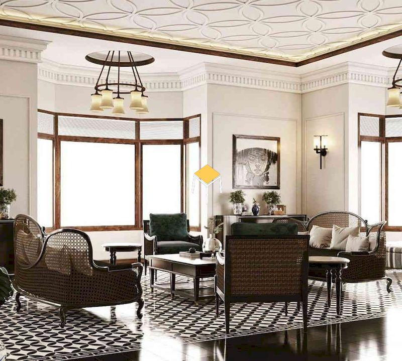 Sofa phong cách Đông Dương 3