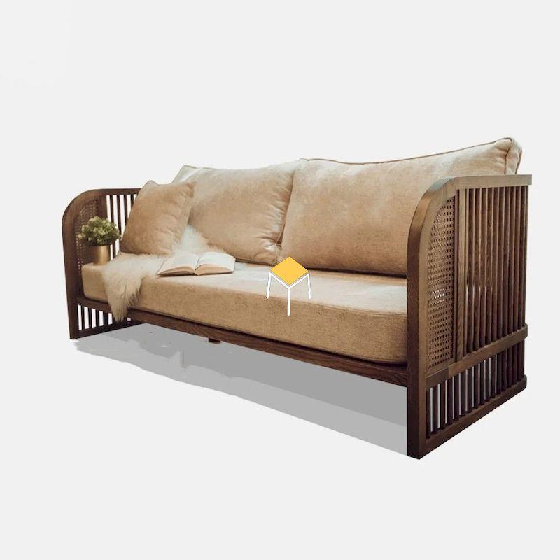 Mẫu ghế sofa gỗ tự nhiên óc chó