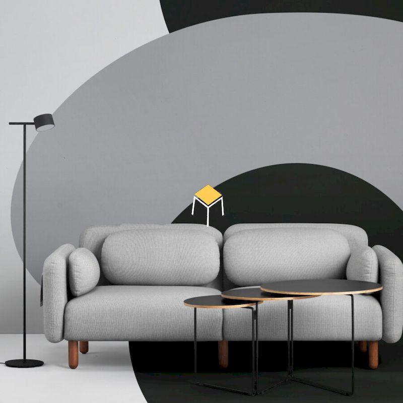 Mẫu sofa phòng khách màu trung tính