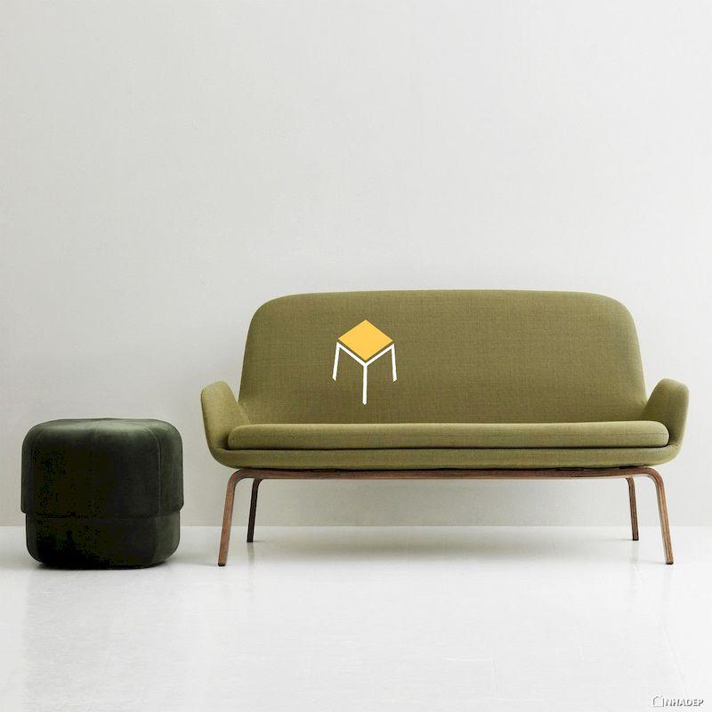 Bộ ghế sofa, đôn sofa màu xanh