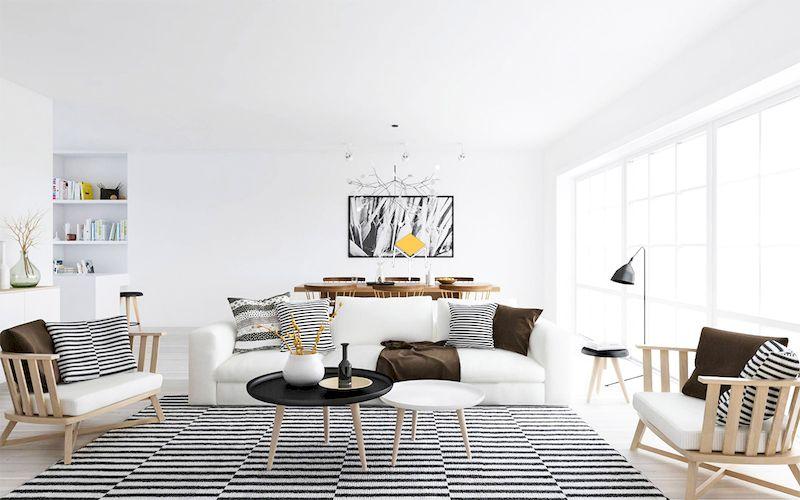 Bộ bàn ghế sofa phong cách scandinavian