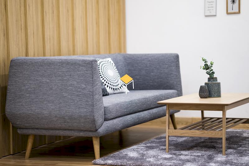 Sofa phòng cách Scandinavian thiết kế đơn giản