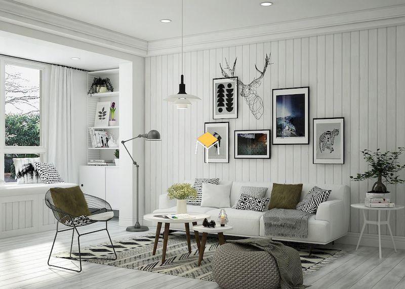 Trang trí nội thất phòng khách phong cách Bắc ÂU