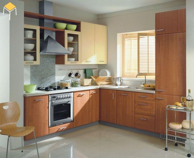 Thiết kế nhà bếp ở nông thôn chữ L