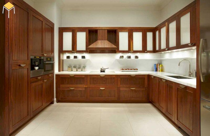 Mẫu bếp gỗ tự nhiên