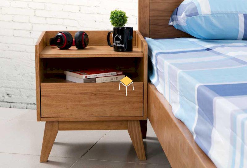 Mẫu tab đầu giường 2 ngăn gỗ tự nhiên