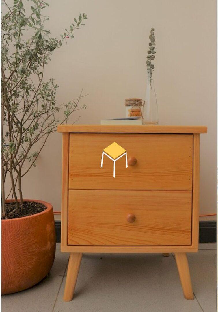 Tủ đầu giường gỗ tự nhiên giá rẻ
