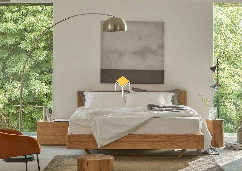 Mẫu thiết kế nội thất phòng ngủ gỗ sồi