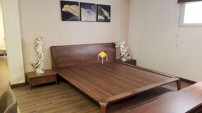 Nội thất phòng ngủ gỗ óc chó - tab đầu giường gỗ óc chó