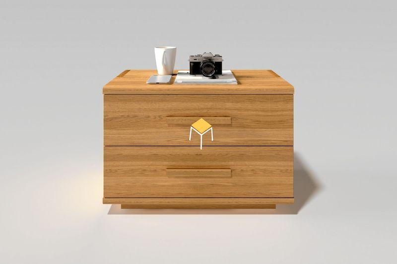 Tab đầu giường 2 ngăn gỗ sồi