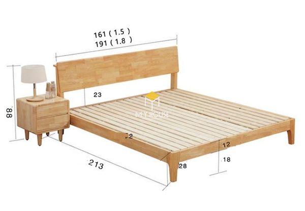 Bản vẽ giường 1m6 x 2m