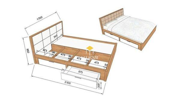 Bản vẽ giường ngủ 3