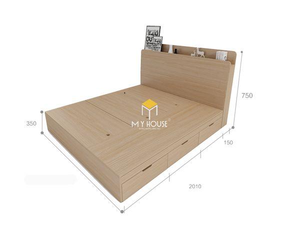 Bản vẽ giường 2m x 2m2