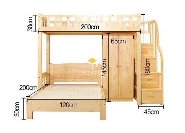 Bản vẽ giường tầng
