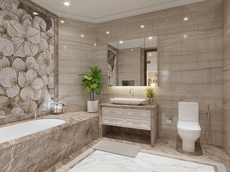 Phòng tắm, nhà vệ sinh tầng 2
