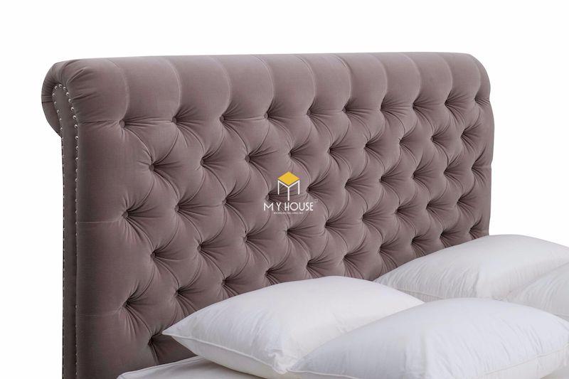 Phần đầu giường ngủ thiết kế cách điệu sang trọng