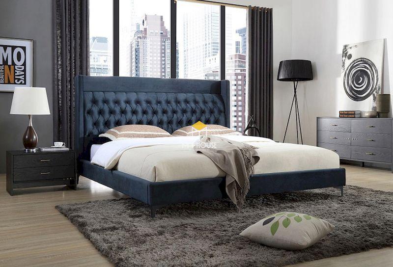 Giường bọc nỉ 3